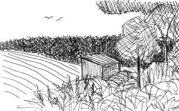 MittelSk11 Brueck Kleine Huette am Waldrand