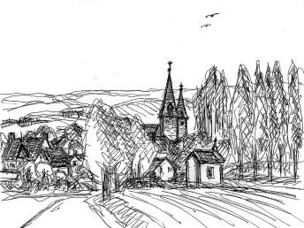 Normandie10-Essay Blick zur Kirche