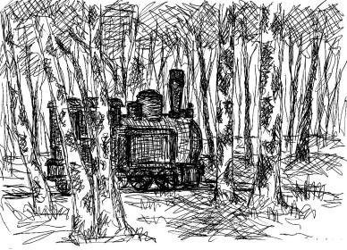 OHVSk5 Mildenberg Lok im Birkenwald