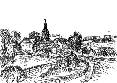 OHVSk6 Vehlefanz Blick aufs Dorf