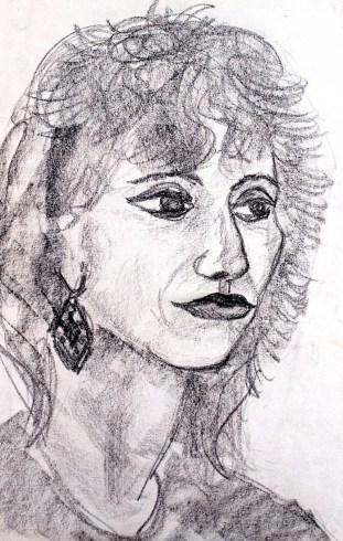 Portrait Blumenfrau
