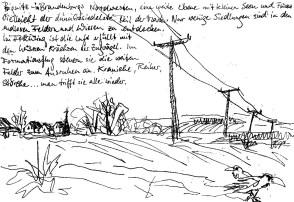 PrignitzSk14 Perleberg Landschaft mit Strommasten