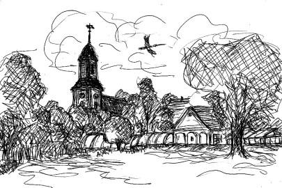 PrignitzSk6 Ruehstaedt Blick zum Dorf