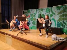 Quartett - Filimon, Ella, Helena und Nils