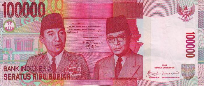 Uang Rupiah pecahan Rp 100.000