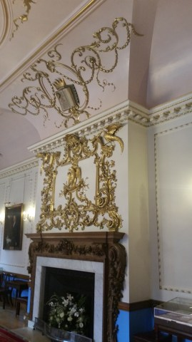 The gilt Rococo overmantle
