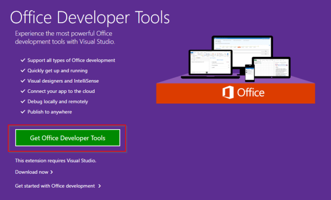 Visual Studio 2015 Community Sharepoint - Get Office Developer Tools