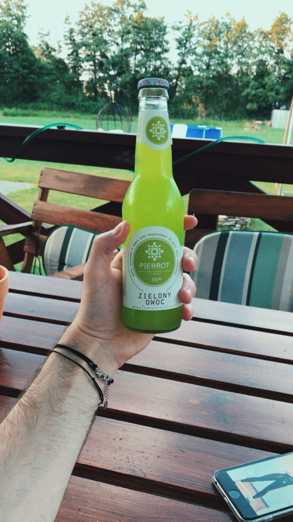 A vivid green bottle of kiwi lemonade? Purchased in Poland, it tasted vile, but had a wicked nuclear colour.