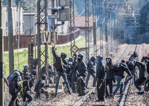Ausschreitungen bei Demonstrationen gegen die Grenzkontrollen - 07.05.2016 (19 von 28)