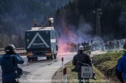 Ausschreitungen bei Demonstrationen gegen die Grenzkontrollen - 07.05.2016 (23 von 28)