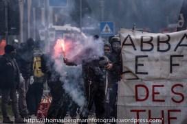 Ausschreitungen bei Demonstrationen gegen die Grenzkontrollen - 07.05.2016 (3 von 28)