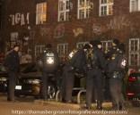 """Polizei vorm linken Zentrum """"Kafe Marat"""""""