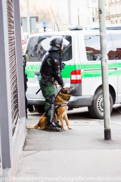 DIe Polizei war mit einem Großaufgebot vor Ort