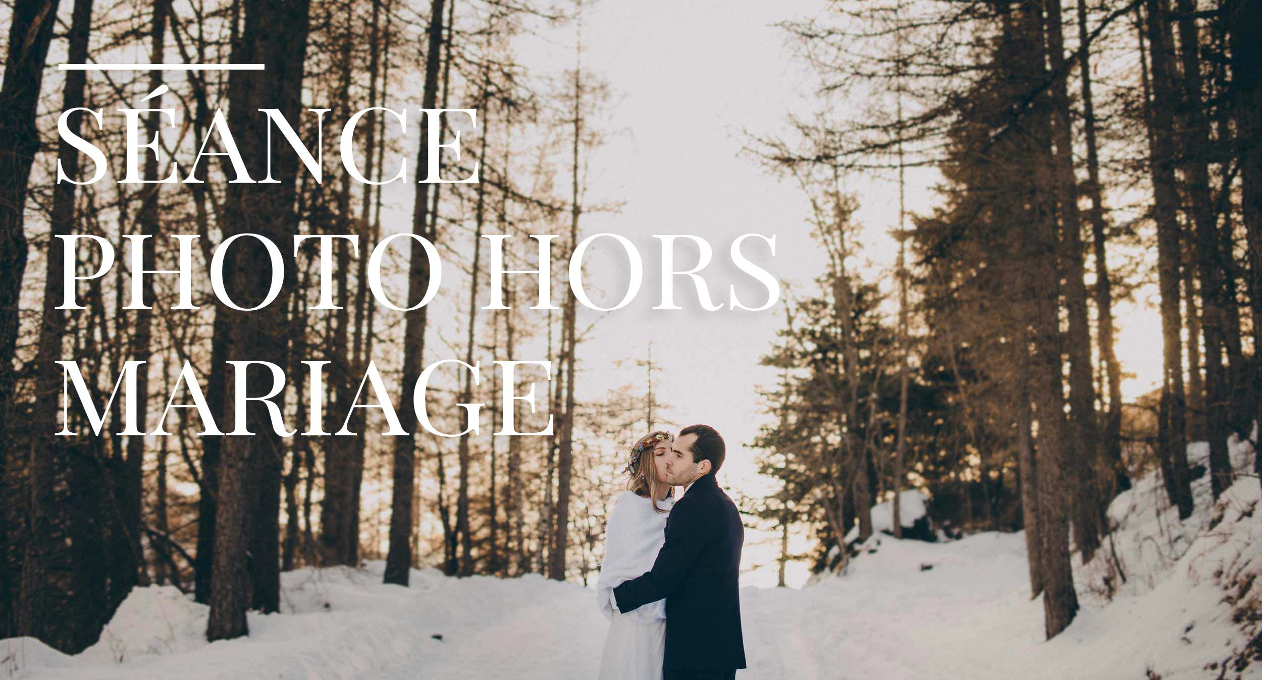 shooting photo de couple hors mariage dans la neige bohème chic - photographe marseille - thomas bertini photography