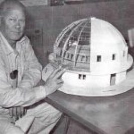 George Van Tassel with Integratron model