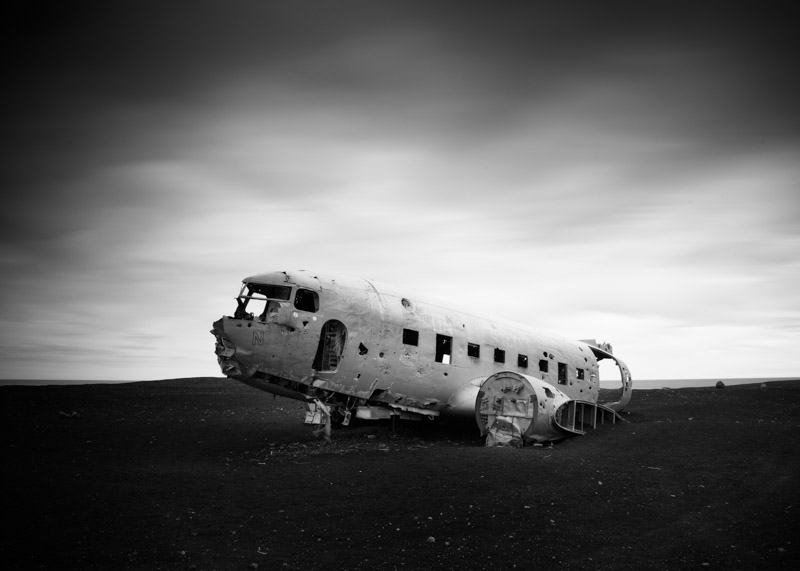 Roadtrip en Islande - epave avion DC3