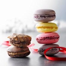 Macaron framboise, caramel, royal, exotique, framboise-canneberge, Hibiscus.