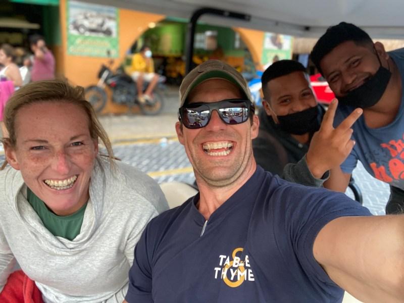 Jackie and Thomas at Playa Mujeres