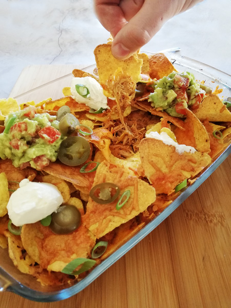 Recept Pulled Chicken Nachos - Thomas Culinair