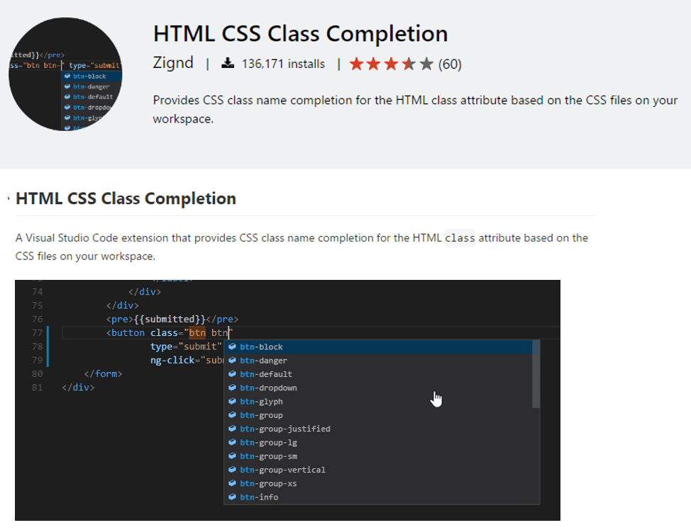 html-class-completion