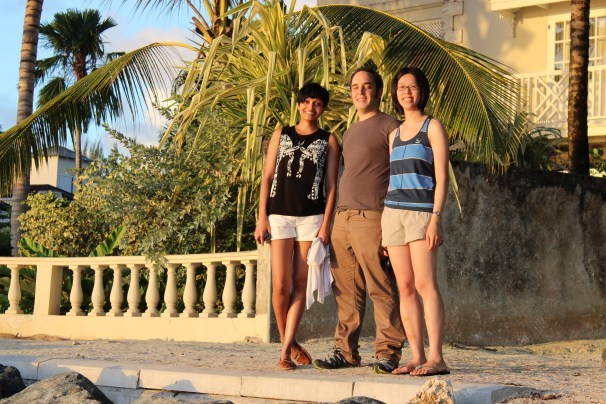 """20 years of microRNA Research Meeting"" Barbados 2014. Ahilya, Mathieu & Edlyn."