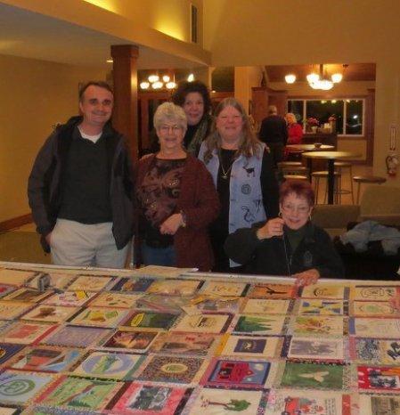 Pictured left to right are Thomas Frank, Alma Coston, Jody Carson, & Roberta Staff-Ramirez