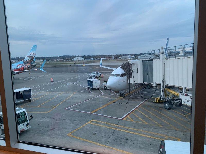 Leaving PDX On Alaska Airlines Flight