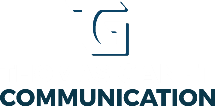 Thomas Ganet Communication Logo Blanc