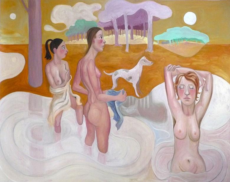 Le bain de Diane - Diane au bain - mythologie