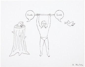 O.T., 2014, Tusche auf Papier, 23,2 x 28,5cm
