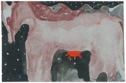 O.T., 2013, Aquarell und Gouache auf Papier, 9,7 x 14,8cm