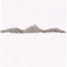 Berge, 2004, Buntstift auf Papier, 14,3 x 14,4cm
