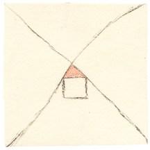 O.T., Kohle und Buntstift auf Papier, 10,7 x 10,6cm