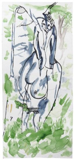 O.T., 2010, Aquarell und Tusche auf Papier,