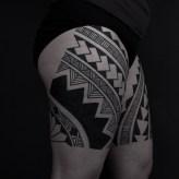 Thomas Hooper Tribal Leg Tattoo NYC June 28, 2010-003