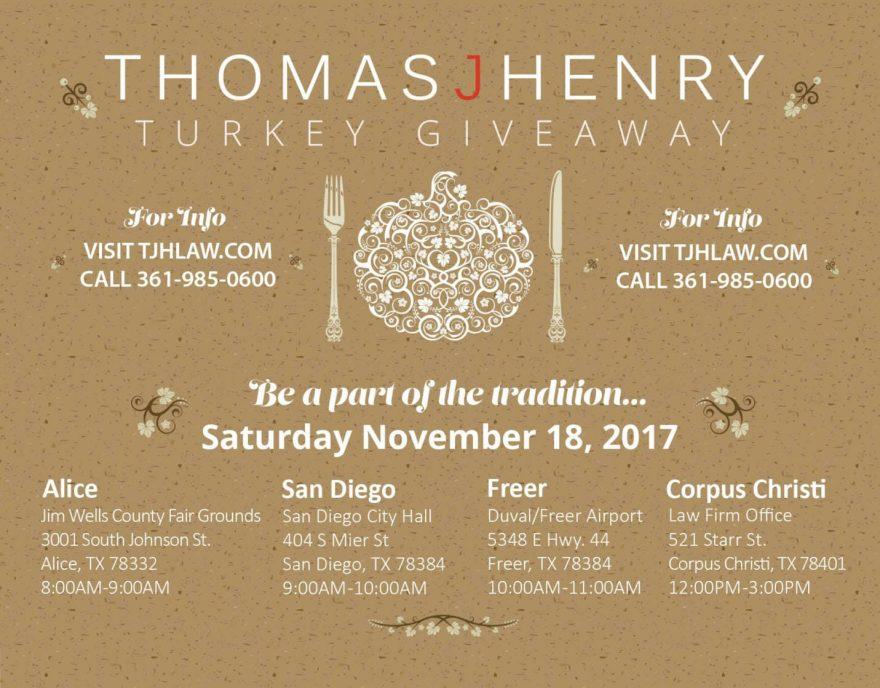 2017 Thomas J Henry Turkey Giveaway This Weekend