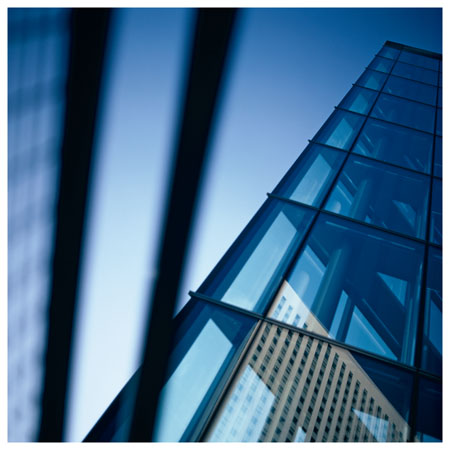 tour verre immeuble transparent