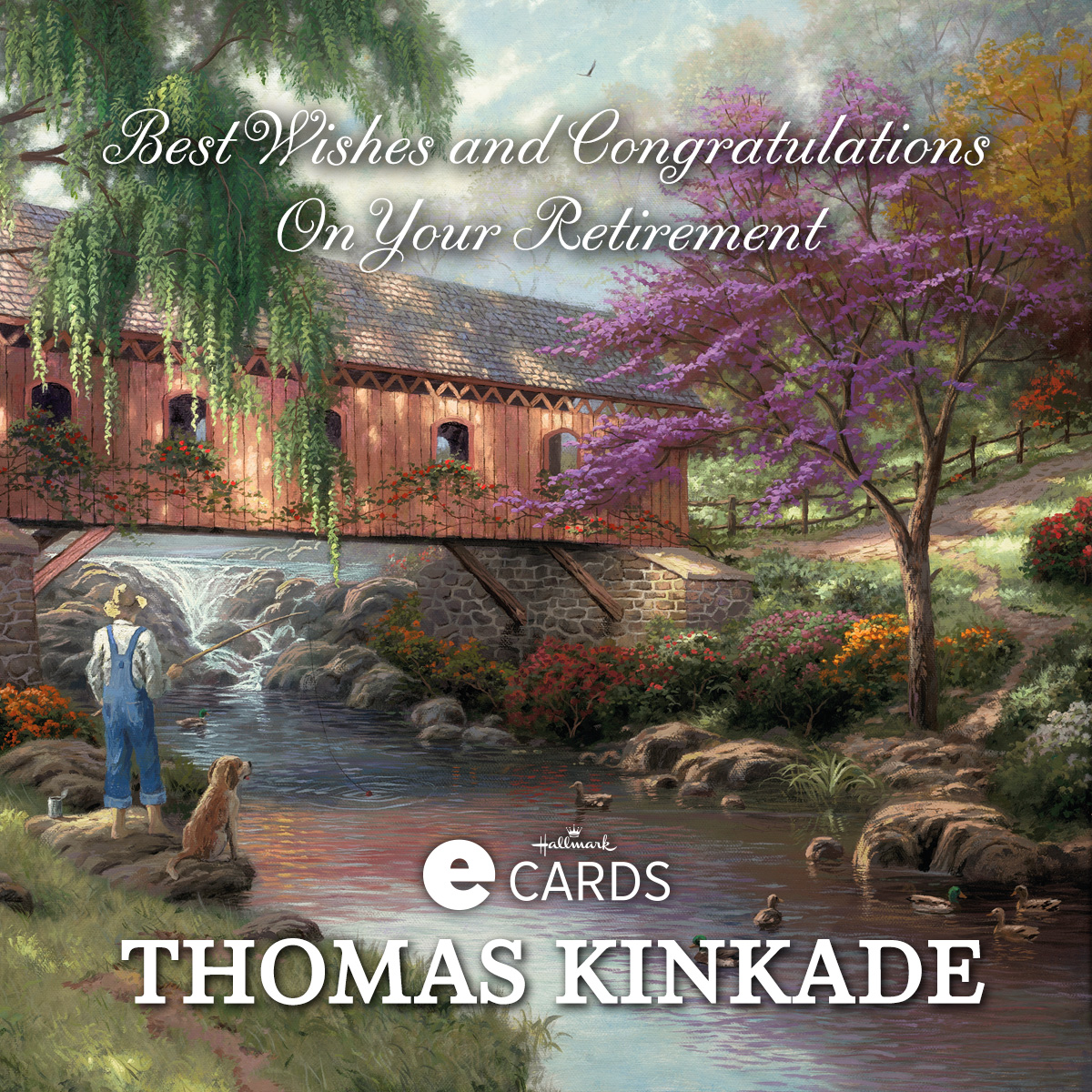 Thomas Kinkade Retirement Ecards The Thomas Kinkade Company