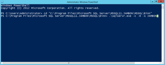 HOW TO: Recover the Master Database in SQL 2012