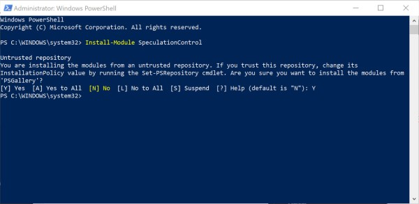 install-module-speculationcontrol