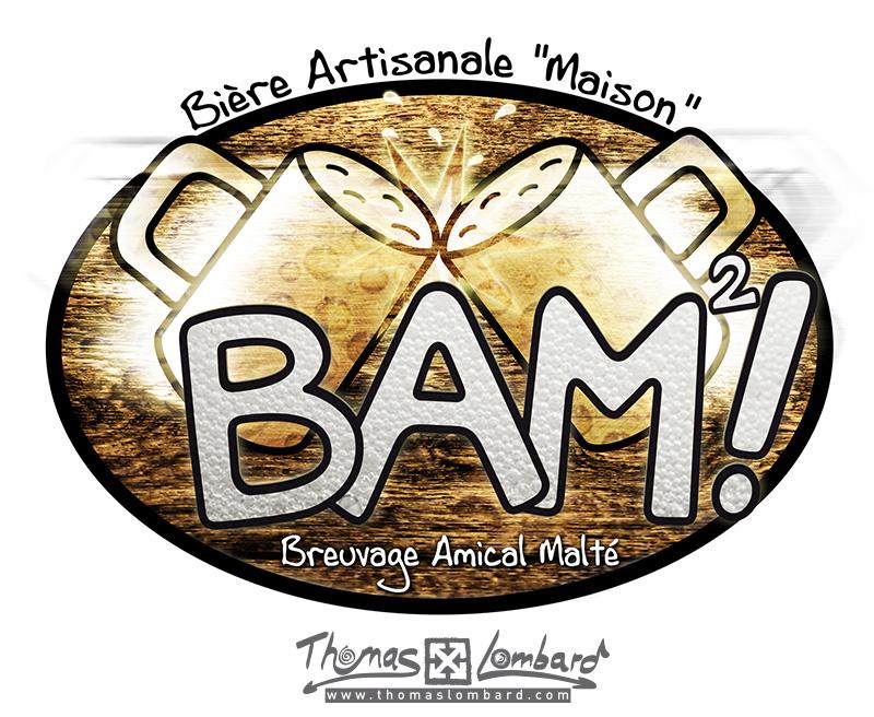 Logo en couleur et finalisé de la bière BAM²!