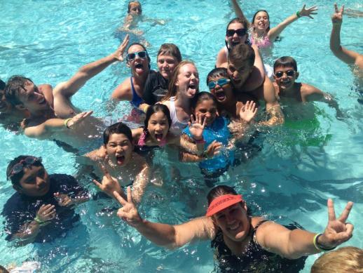 Swimming at Camp Gilligan