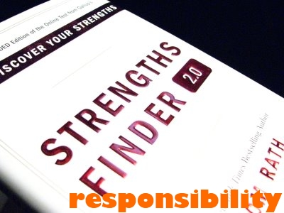 "Responsibility: ""Strengths Finder"""