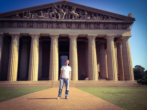 TMZ at the Parthenon in Nashville