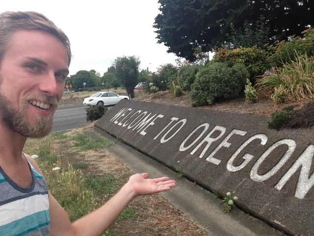 #RunningTo: OREGON sign