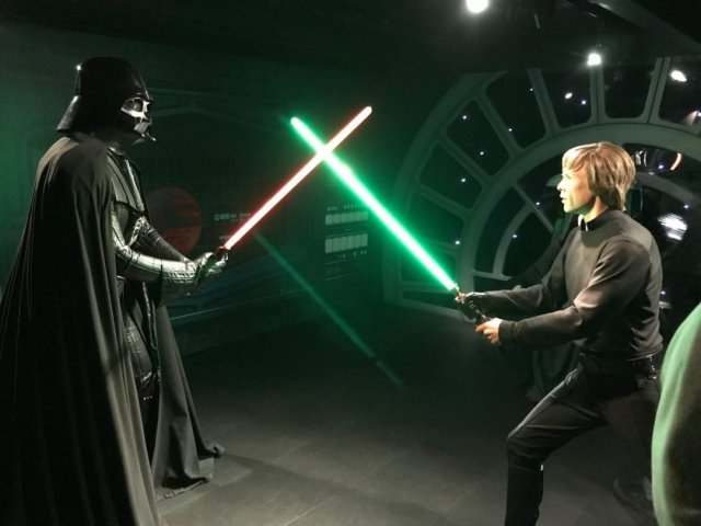 Darth Vader og Luke Skywalker - Madame Tussaud's