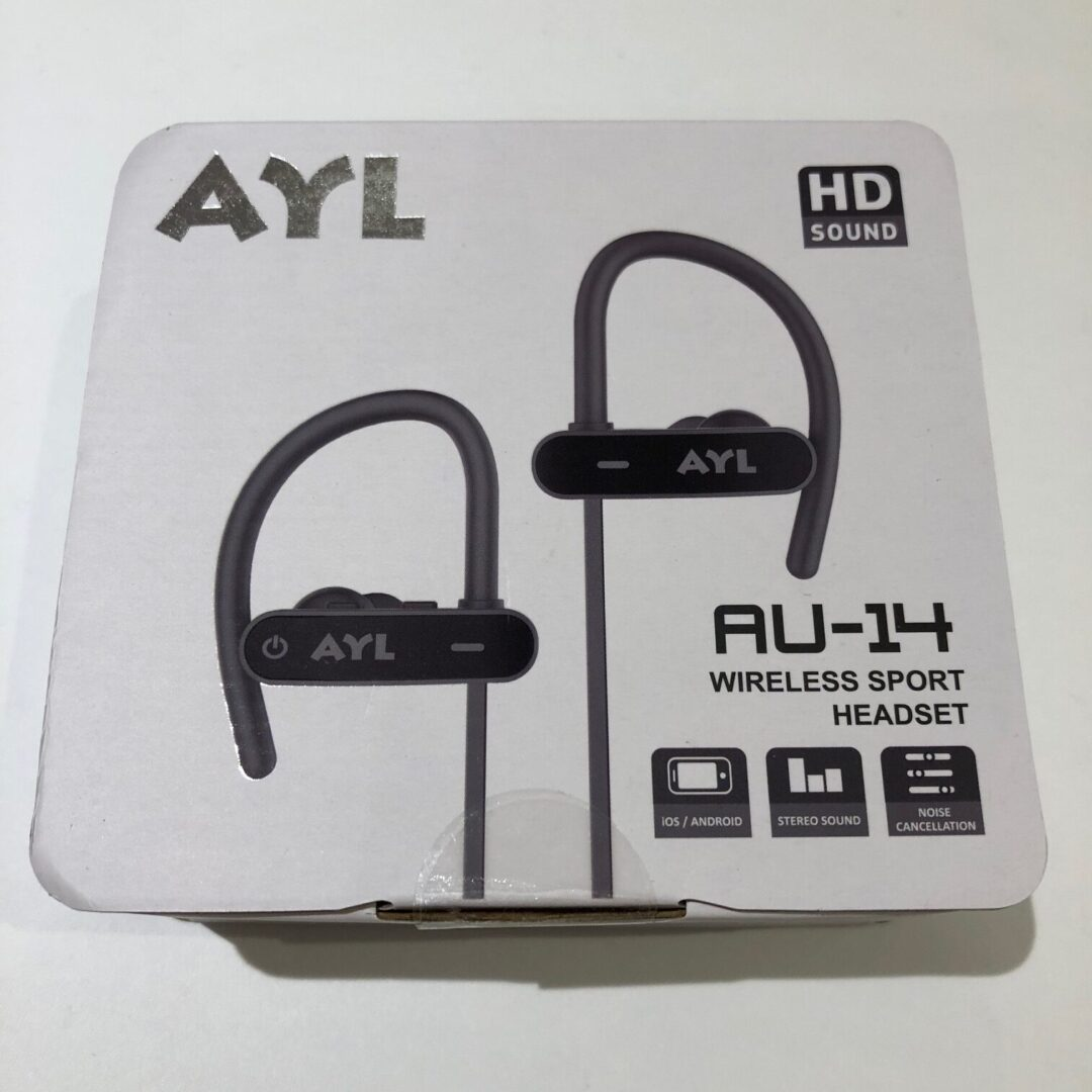 AYL AU14 Sports BlueTooth headset indpakning