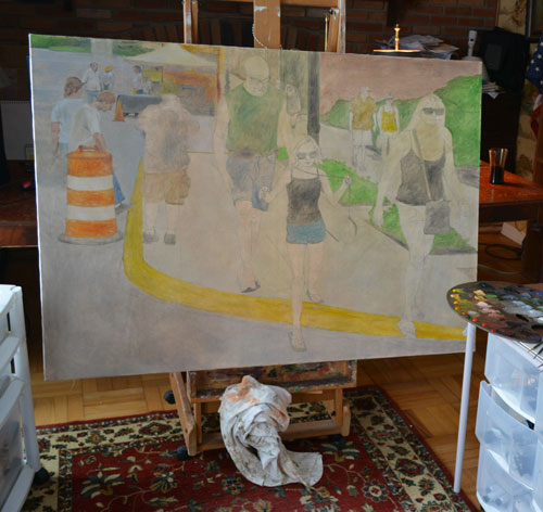 'Main Street #2' on the easel