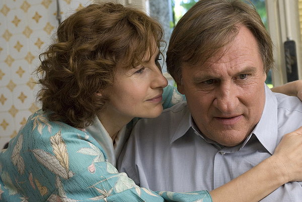 Gérard Depardieu and Marie Bunel in a scene from Inspector Bellamy