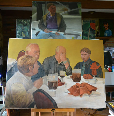 On the (new) easel 7-13-14